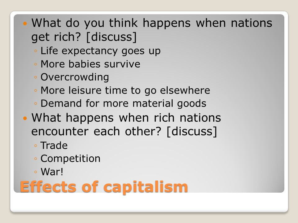 What do you think happens when nations get rich [discuss]